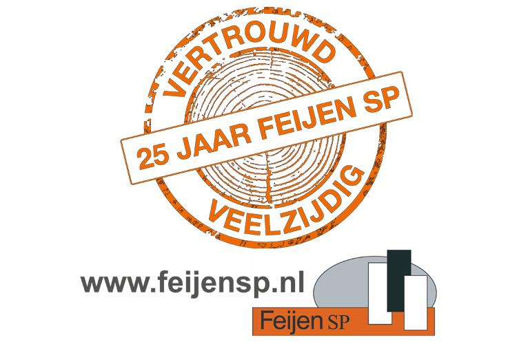 Feijen SP logo 25-jaar
