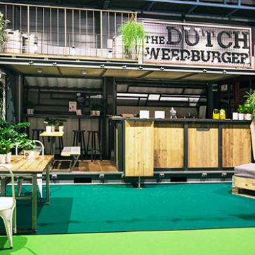The Dutch Weedburger op vakbeurs Event in Jaarbeurs Utrecht