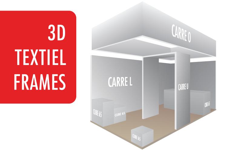 Multifunctionele en duurzame 3D textielframes