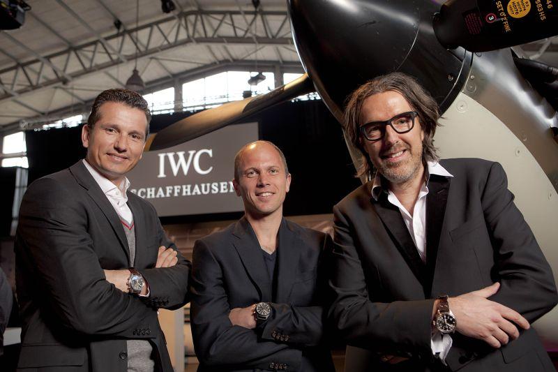 Richard Krajicek, Teun de Nooijer en Michiel Borstlap op het IWC lanceringevent