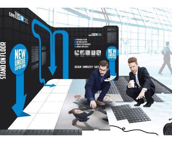 mobiele stand on-expo-floor
