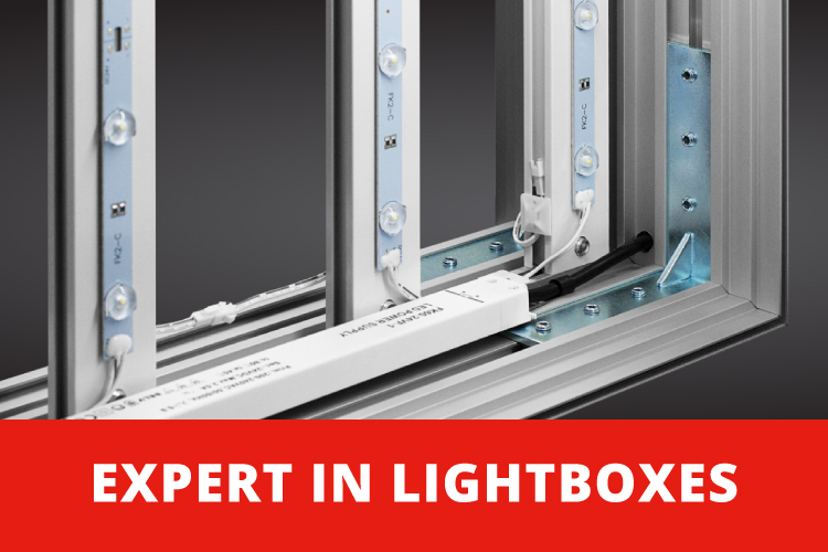 EFKA is specialist in indoor lightboxes