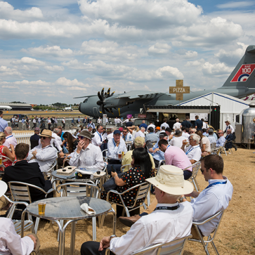Farnborough Airshow Bezoekers