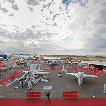 Farnborough Airshow leonardo buitenterrein