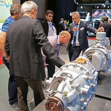 Busworld Scania electrische motor