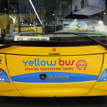 Busworld Yellow Bus