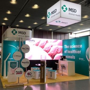BEURSSTAND MSD ANIMAL HEALTH STAND DIBBITS EXPO SERVICES