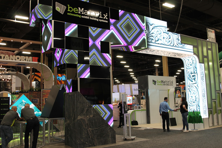 Award winning booth of beMatrix on ExhibitorLive