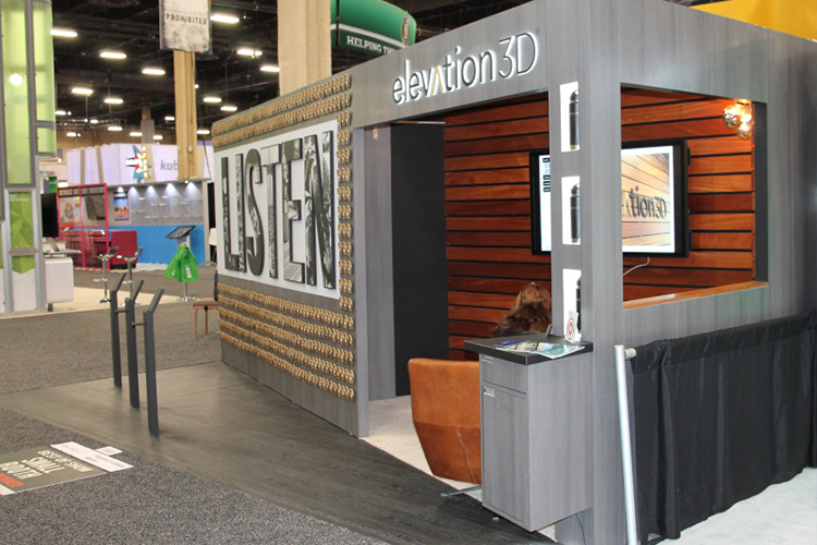 Award winning booth of Elevation3D on ExhibitorLive