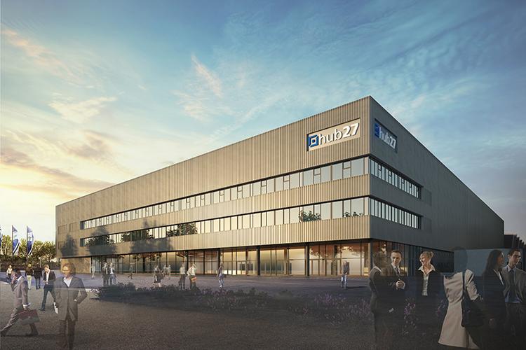 Rond deze tijd wordt hub27 Berlin opgeleverd, de nieuwe congres- en beursinfrastructuur van Messe Berlin