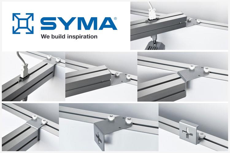 SYMA Diagonale aansluitconsole XWALL 60