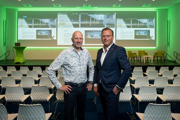 Marc van Aalst, Head of Guest Events, en CEO Jeroen van Hooff van Easyfairs Nederland
