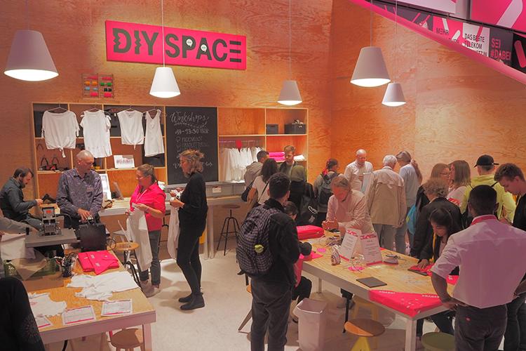 De DIY Space van het #Dabei-festival op IFA Berlin
