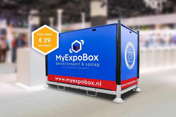 Met MyExpoBox is de opslag en het transport van je beursmateriaal geregeld