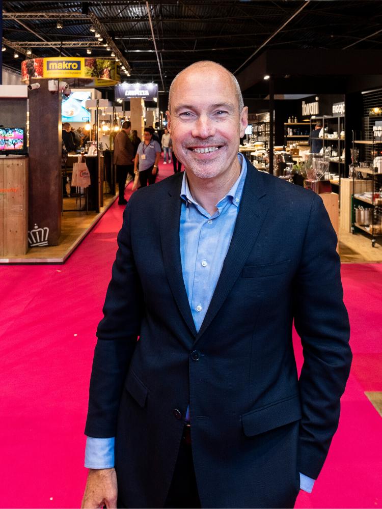 Gert-Jan van den Nieuwenhoff op de beursvloer van Gastvrij Rotterdam