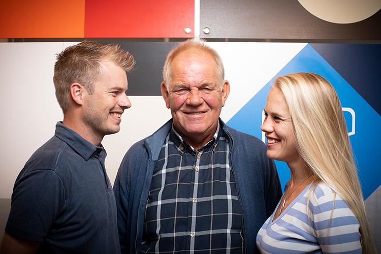 Jeffrey, Wim en Tessa de Leeuw van standbouwbedrijf HRSB