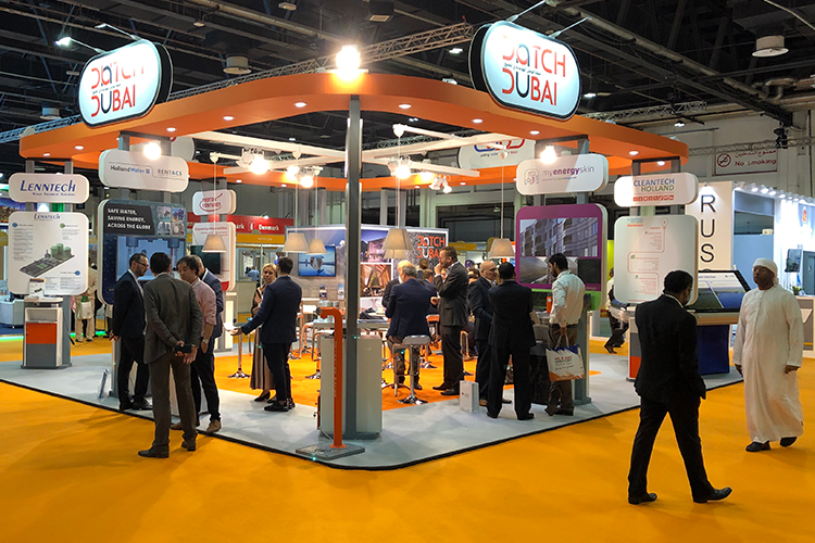 Dutch Dubai paviljoen op Wetex