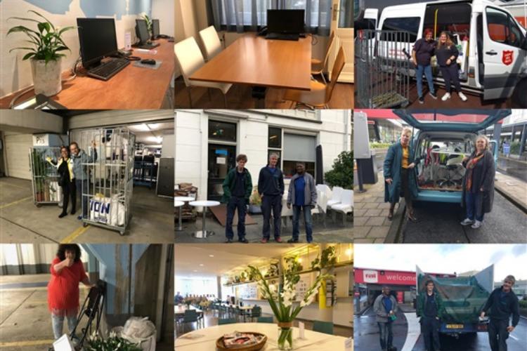 Project hergebruik overgebleven spullen van RAI Amsterdam