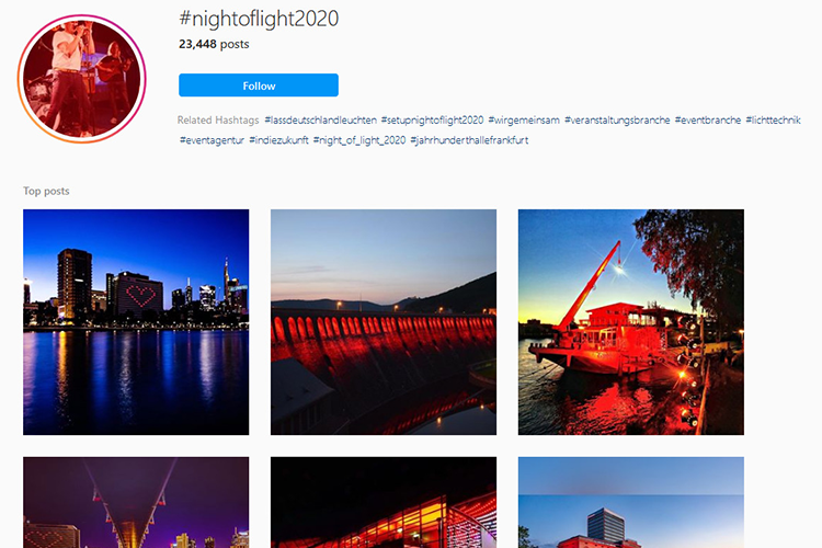 Instagram #nightoflight2020