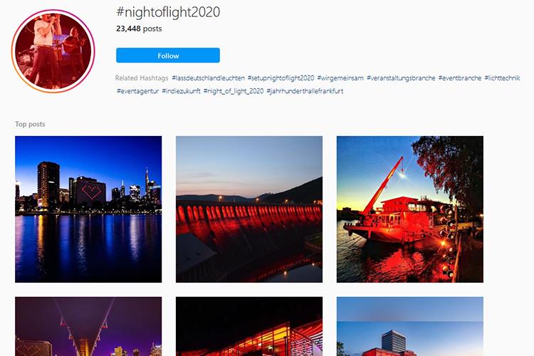 Instagram #nightoflight2020