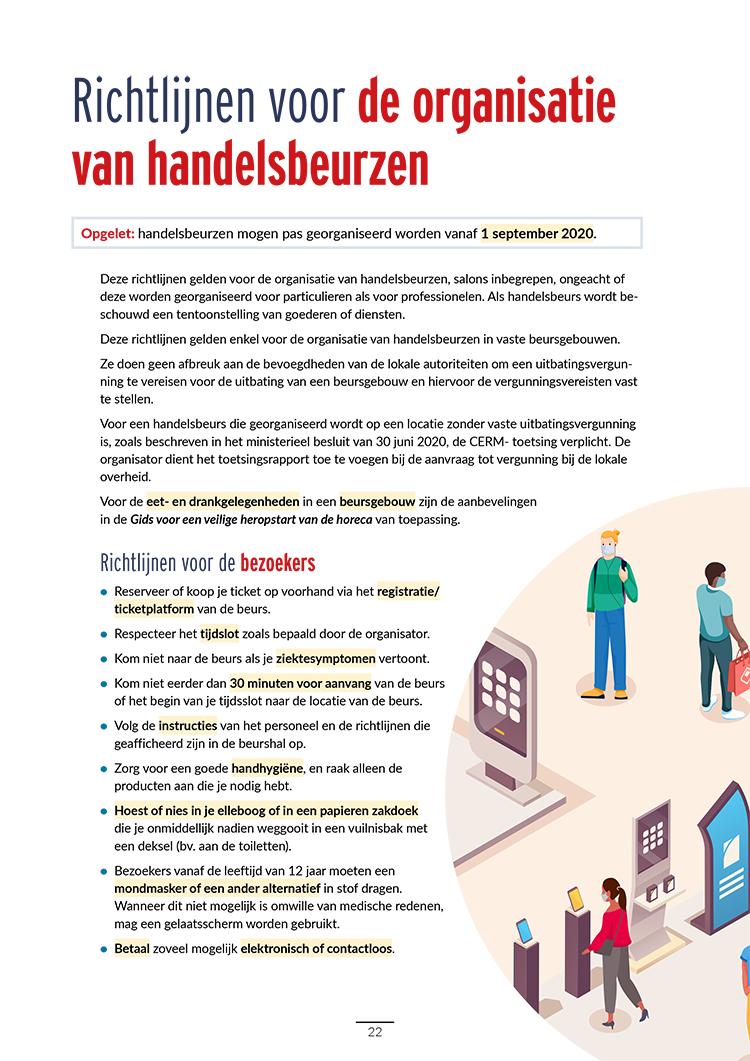 Richtlijnen voor beurzen in België