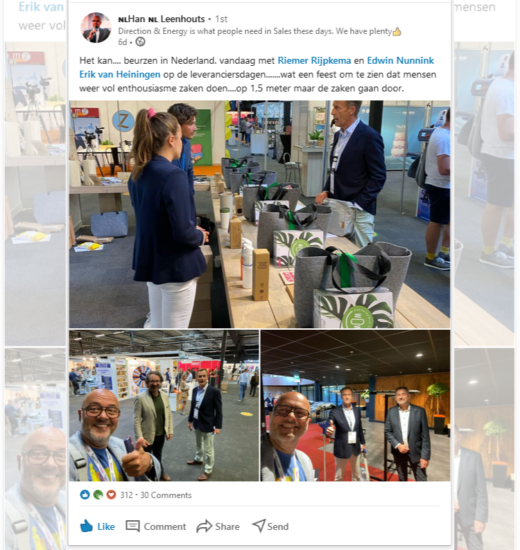LinkedIn-post over De Leveranciersdagen door Han Leenhouts