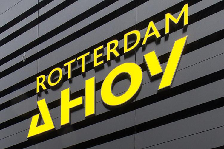 Logo Rotterdam Ahoy op gevel