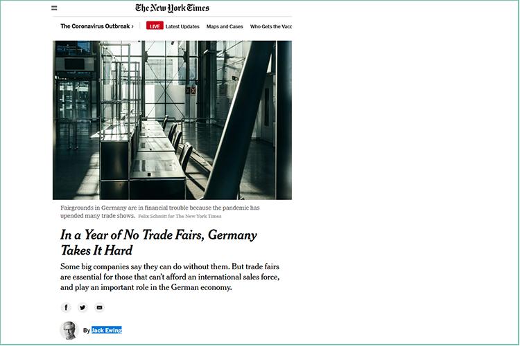 Artikel over de Duitse beurzencrisis in The New York Times