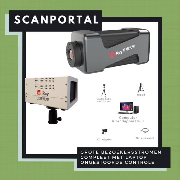 Scanportal voor infrarood temperatuurmeting