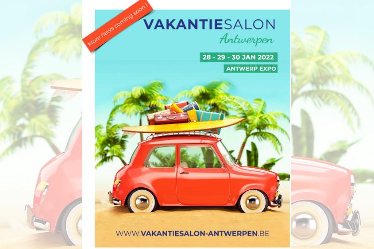 Vakantiesalon van Antwerpen 2022 beursposter